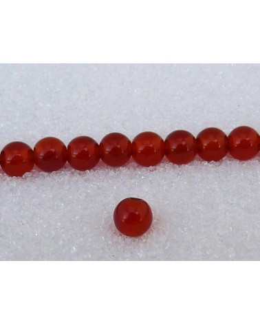 Agate lisse  Rouge 4mm X 20