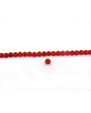 Agate lisse  Rouge 3mm grade AA x  20