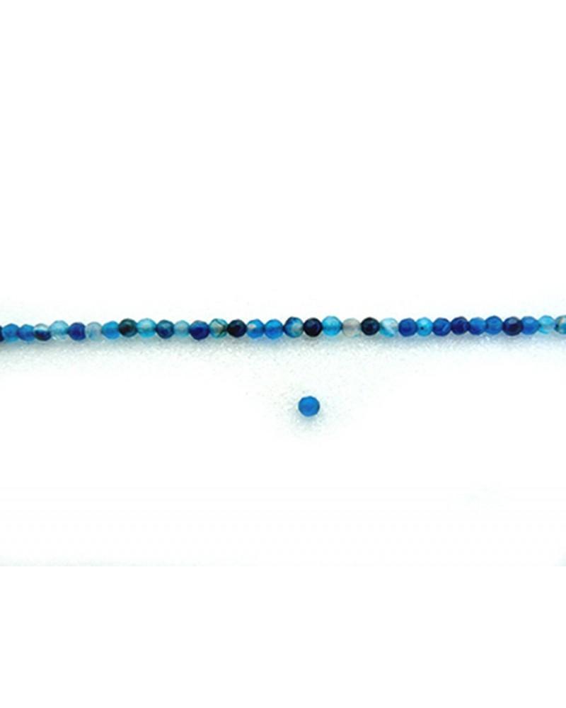 Agate bleu turquoise et saphir 4mm mix facettée par 20