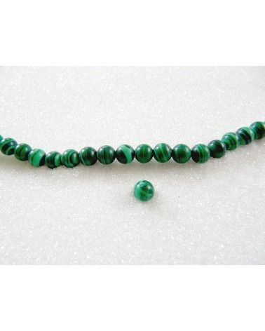 Malachite lisse synthétique 6mm X15