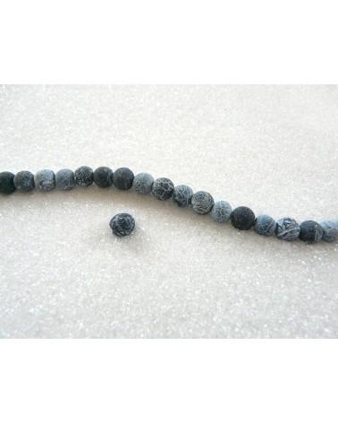 Agate efflorescente 6mm Noir X15