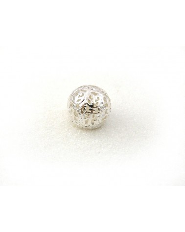 Perle filigranée boule 14mm Argentée X 1