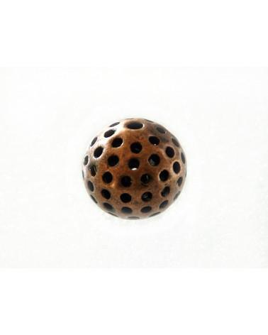 """Perle décorée """"la bola"""" 22mm Cuivre antique X 1"""