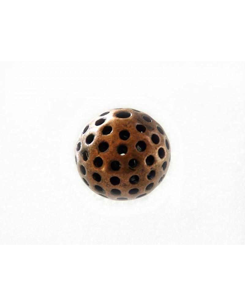 "Perle  filigranée ""bola"" 22mm Cuivre antique X 1"