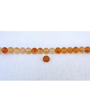 Agate lisse Grade A  6mm bicolores claires  X15