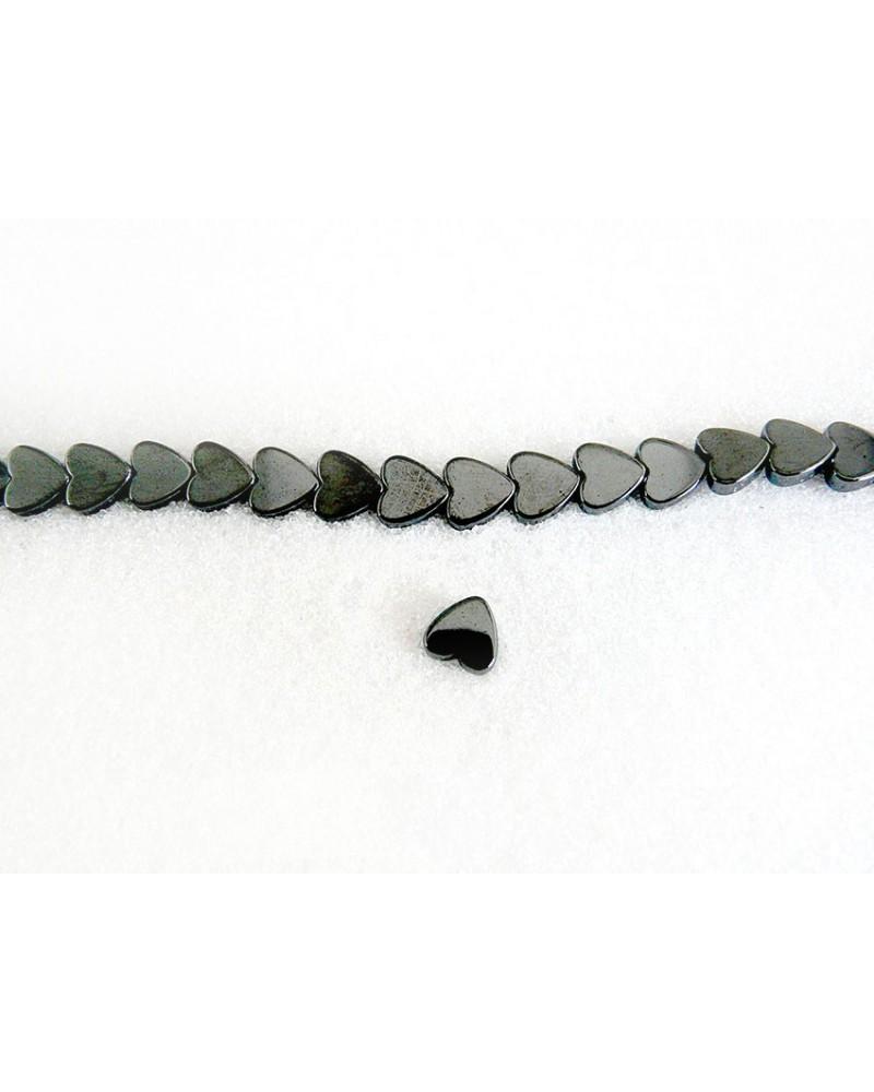 Hematite Grade A coeur noir 6x2 mm x 5