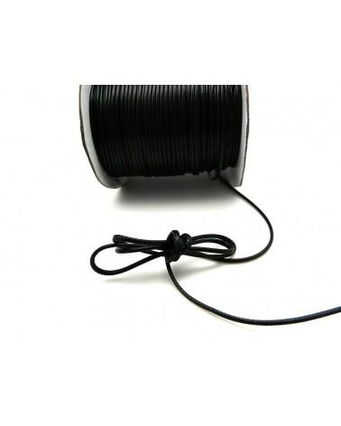 Coton ciré tressé  NOIR 1,5mm qualité supérieure X 3 Mètres
