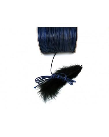Cordon ciré tressé Bleu marine 1,5mme X 3 Mètres