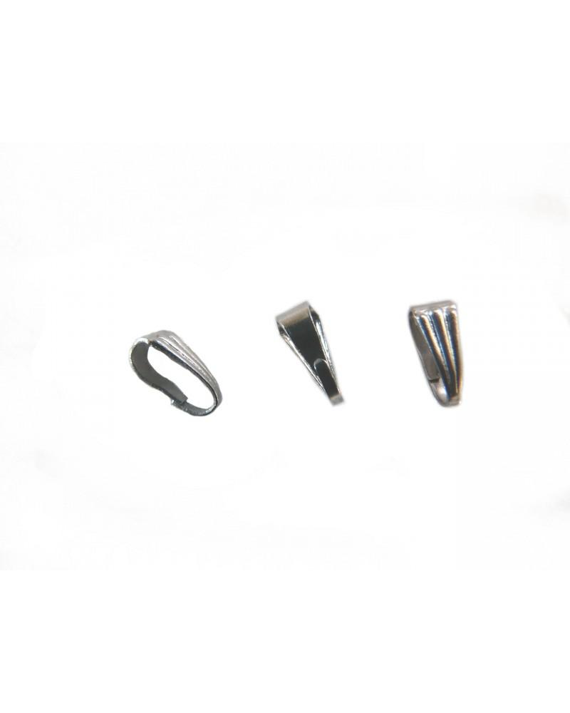 Bélière en acier inoxydable 7 x 3mm X1