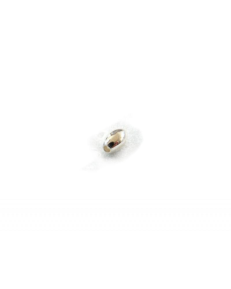 Olive 7 x 4mm en argent 925 X1