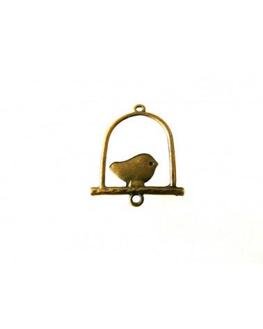 Intercalaire balançoire oiseau 2 anneaux 32mm bronze X1