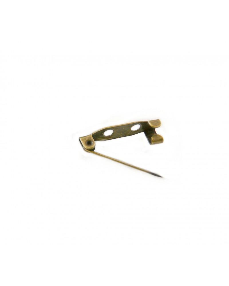 BROCHE épingle à coller, coudre, BRONZE 19mm x  par 10