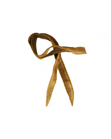 """Ruban pure soie teint à la main OR """"esprit couture """" environ 90cm"""