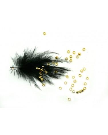 perles à écraser laiton 2mm doré x 50