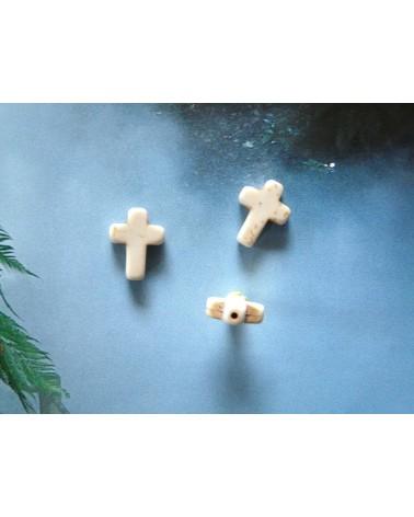 Croix blanche Howlite 16x12mm X 1 ou par 10