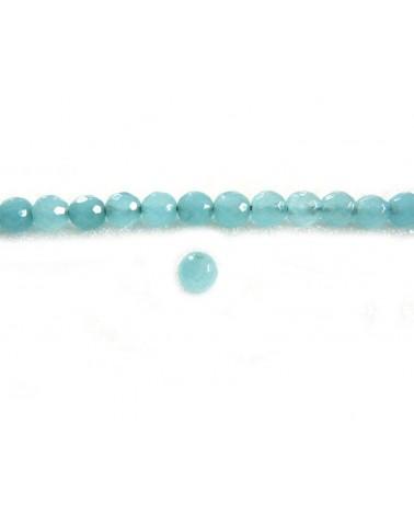 Amazonite facettée 6mm Bleu x 15