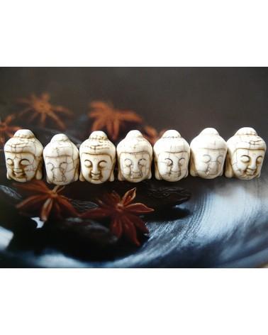 Bouddha howlite blanc 30 x 21mm x 1