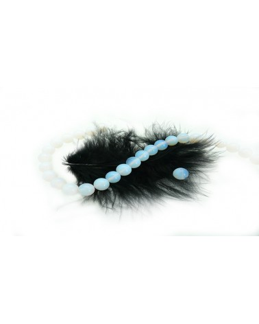 Opaline perle lisse 6mm x 15