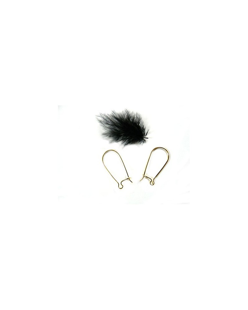 Dormeuses  placage or 14k 28 x 13.5mm x2