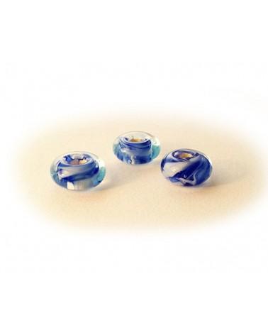 Audrey SeR: 3 perles en verre de Murano n° 4 - 1x14 mm