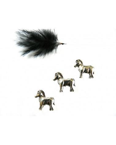 Perle cheval 17 x 14 mm en métal argenté x1