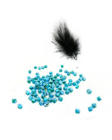 Toupies Bohême 4mm BLEU - Blue zircone AB2X par 25