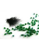 Toupies en cristal de Bohême 4mm VERT - Green Bottle AB x 25