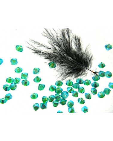 Toupies 4mm vert émeraude AB2X par 25