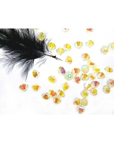 Toupies en cristal de Bohême 4mm BLANC- White opal AB2X par 25