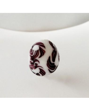 Audrey SeR: Perle en verre de Murano n° 13 - 21x18 mm