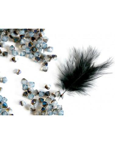 Toupies  4mm BLEU opale valentinit x 25