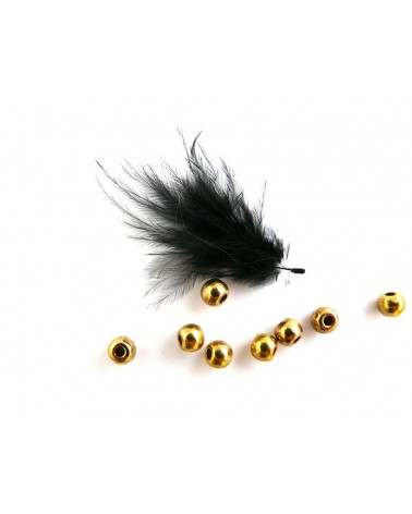 Boule applatie 5 x 4mm DORE X 10