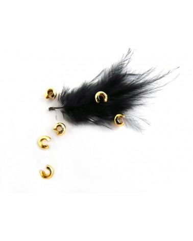 Caches perles à écraser 3mm DORE X 25