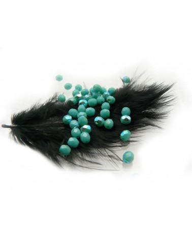 Facettes de Bohême 4mm Green turquoise  AB  x 50
