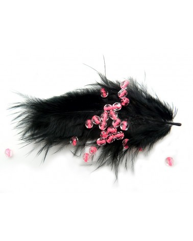 Facettes de Bohême 4mm Crystal Rose néon x 50