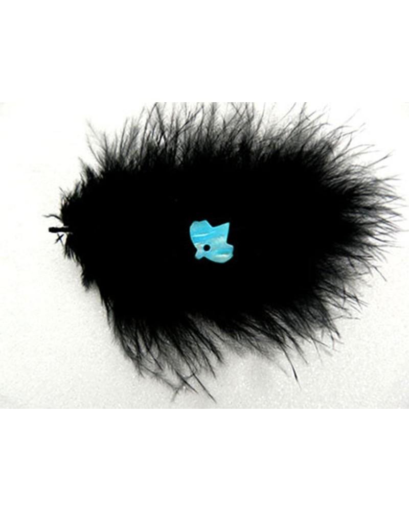 oiseau-nacre-bleu-turquoise-13x14mm x 2