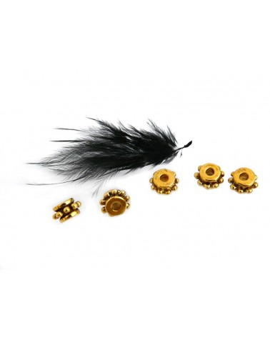 Rondelle intercalaire 7x4mm doré x 1 ou par 10