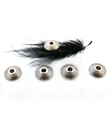 Bicone, toupie 8 x 3.5mm argenté X 1 ou par 10