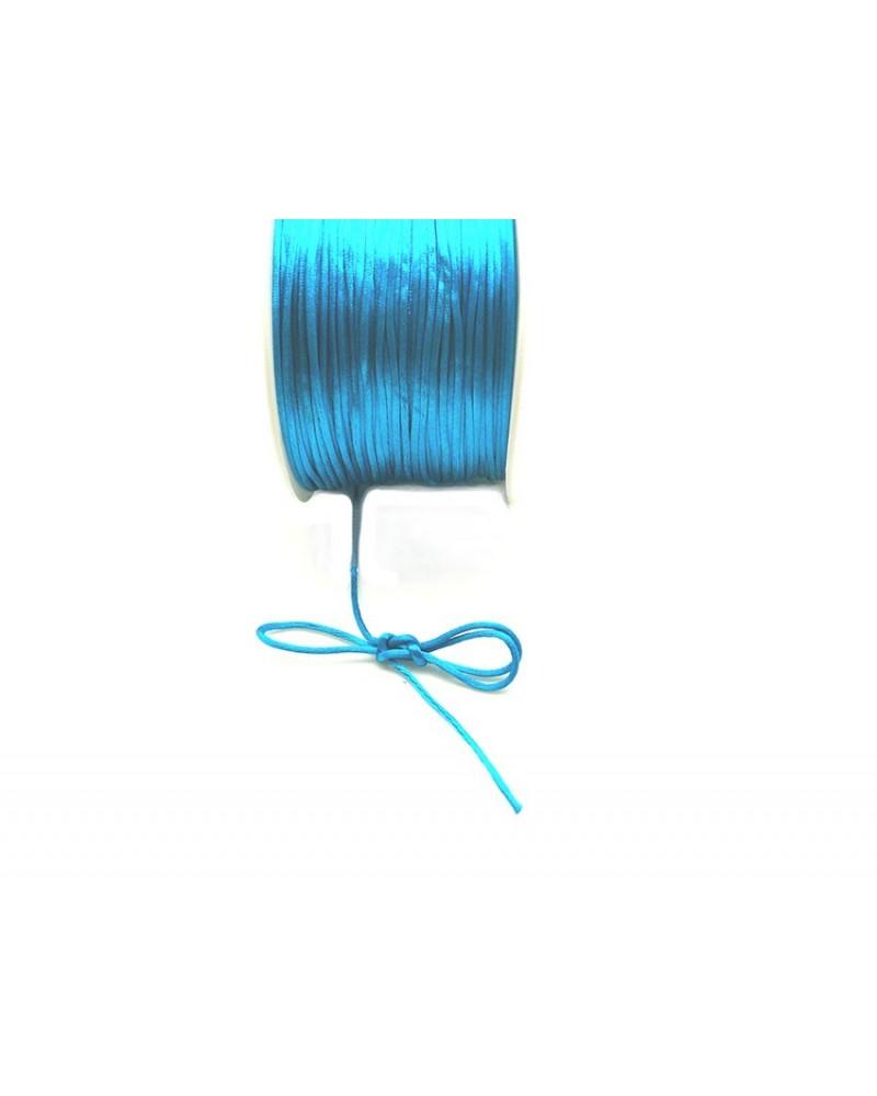 Queue de rat 1.2mm bleu turquoise x 2.5 mètres