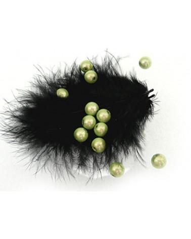 100  Perles magiques 8mm vert-anis