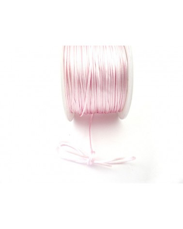 Queue de rat 1.2mm rose pâle x 2.5 mètres