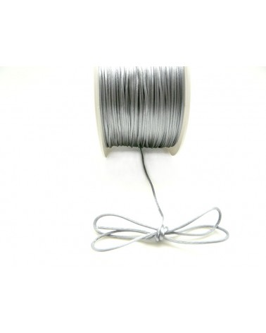 Queue de rat 1.2mm gris argent x 2.5 mètres