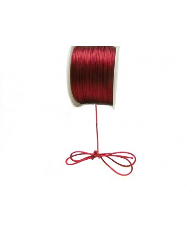 Queue de rat 1.2mm  rouge bordeaux x 2.5 mètres