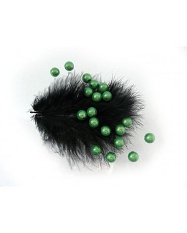 100 Perles magiques 8mm vert-prairie