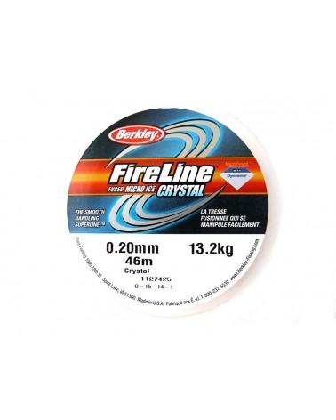 Fil Fireline 0.20mm (6LB) nylon tressé CRYSTAL x 46M