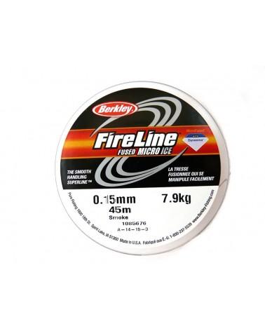Fil Fireline 0.15mm (8LB) nylon tressé SMOKE x 45M