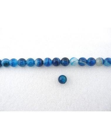 Agate bleu 6mm mix lisse par 15