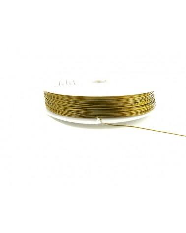 Fil cablé OR 0.45mm 7 brins 100 Mètres