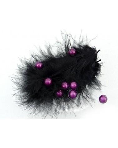 100 Perles magiques 8mm violet-3 foncé