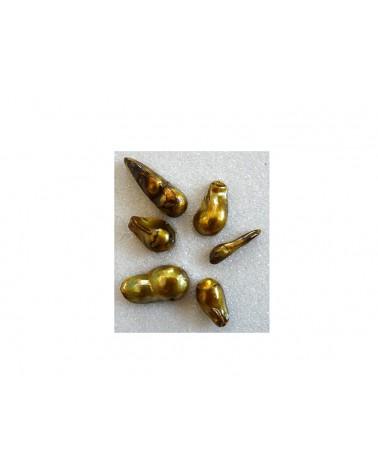 Perles baroques d'eau douce BLANC x 5